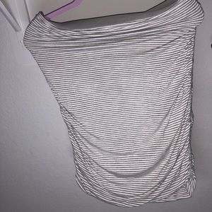 Max Studio grey striped skirt